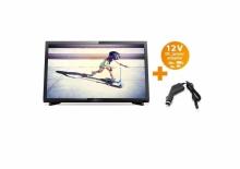 Портативен телевизор с цифров тунер Philips 22 инчa