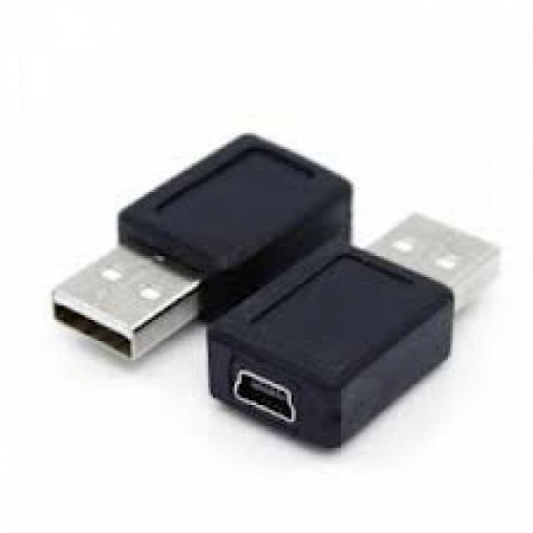 Конектор от mini USB женско към USB мъжко