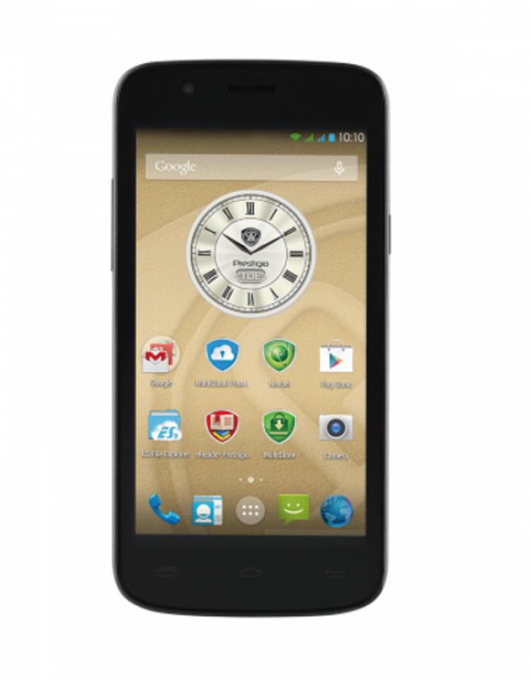 "Смартфон PRESTIGIO MultiPhone PSP5504 DUO METAL - 5"", 2 СИМ, четириядрен - МЕТАЛИК"