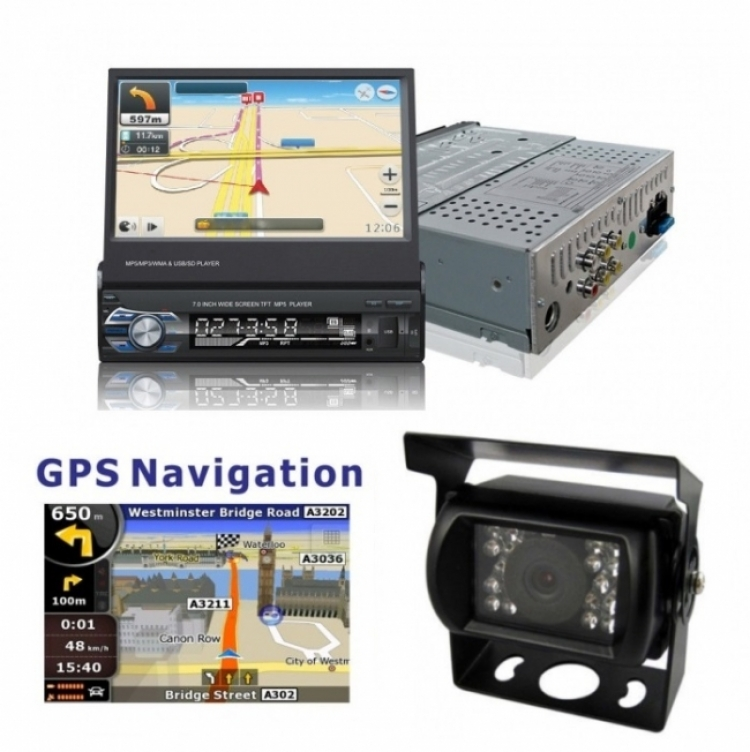 Навигация за камион за вграждане единичен дин AT179601