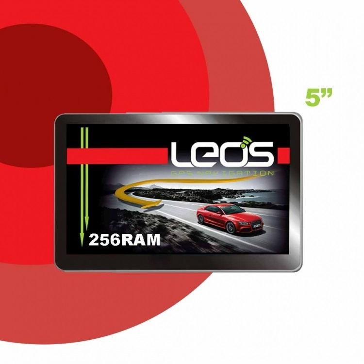 GPS навигация LEOS A6 256MB RAM