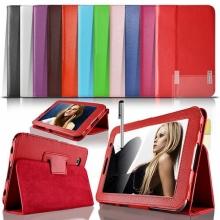 "Цветни Кожени калъфи за таблет Samsung Galaxy Tab 2 7"""
