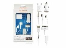 5 в 1 комплект зарядни за iPhone 4S/4G/3GS/3G и iPhone
