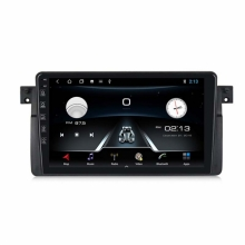 Мултимедия двоен дин за BMW E46, MTK8227A, 1GB, Android 10, 9 инча, GPS